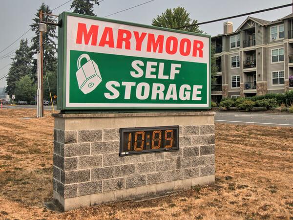 Marymoor Self Storage sign